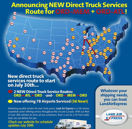 New Truck Routes Flyer